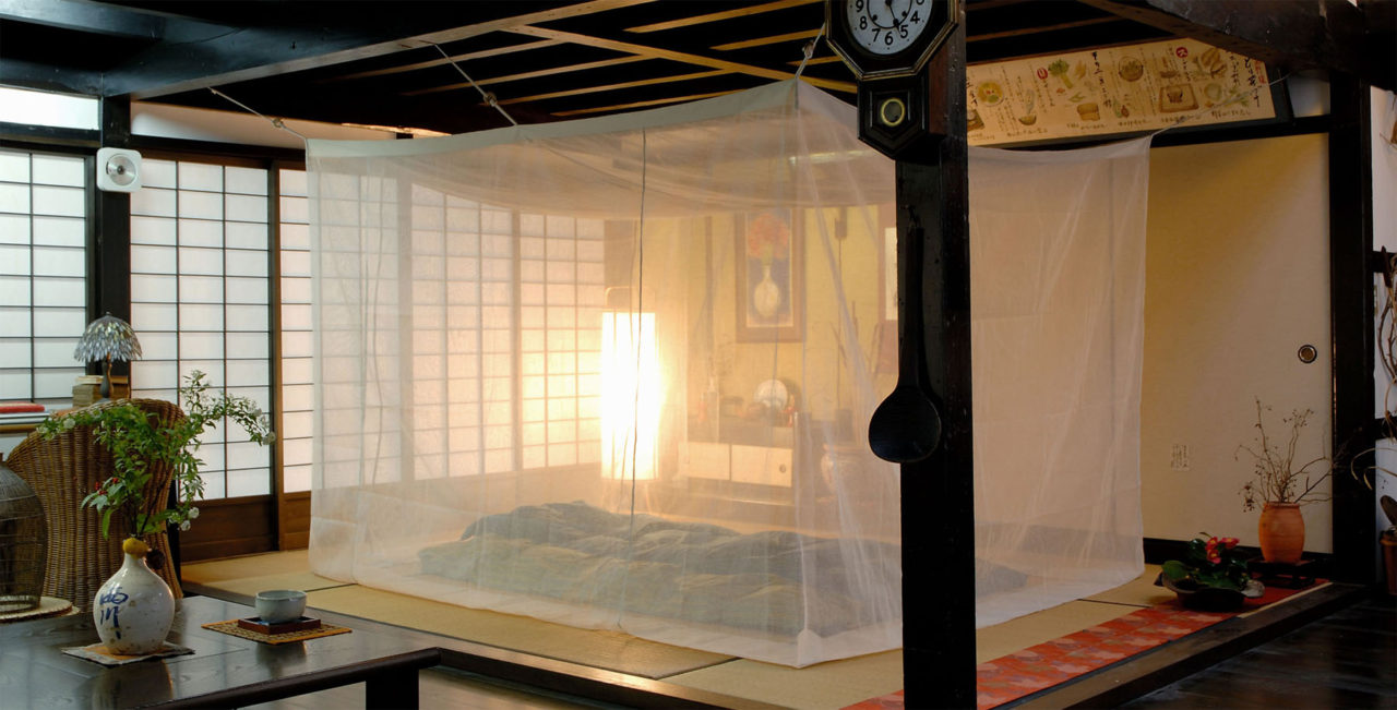 菊屋の蚊帳古民家に設置トップページスライダー画像